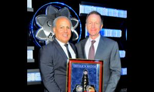 Eagle & Badge Foundation President Peter R. Repovich and Honoree Austin M. Beutner.