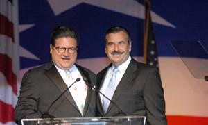 Event Dinner Chairs Robert Hertzberg and Chief Charlie Beck
