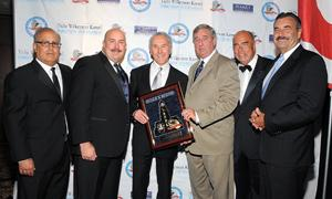 Peter Repovich, Paul Weber, Frank McCourt, District Attoney Steve Cooley, Arthur Kassel and Chief Charlie Beck