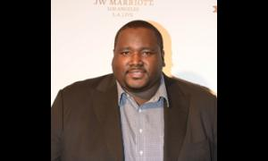 """The Blind Side"" actor Quinton Aaron attended the gala in support of LA police officers."